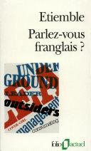Pdf Parlez-vous franglais?