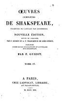 Œuvres complètes de Shakspeare: Timon d'Athènes. Le songe d'une nuit d'été. Roméo et Juliette