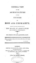 General View of the Agriculture of the Counties of Ross and Cromarty