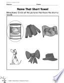 Foundational Skills Short Vowels Practice