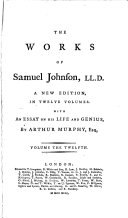The Works of Samuel Johnson.LL.D..: Lives of eminent persons. Letters. Prayers