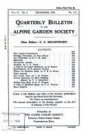 Quarterly Bulletin of the Alpine Garden Society