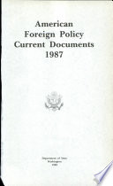 American Foreign Policy Current Documents