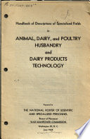 Handbook of Descriptions of Specialized Fields in Animal, Dairy, and Poultry Husbandry and Dairy Products Technology