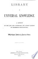 Library of Universal Knowledge Book PDF