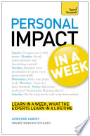 Personal Impact At Work In A Week Teach Yourself Ebook Epub
