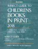Subject Guide To Children S Books In Print 2018 0