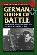 German Order of Battle  Panzer  Panzer Grenadier  and Waffen SS divisions in World War II