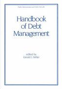 Handbook of Debt Management