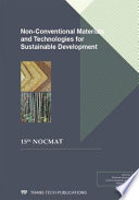 Non Conventional Materials and Technologies for Sustainable Development Book