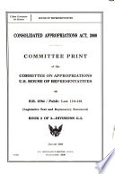 Consolidated Appropriations Act, 2008: Divisions G-L