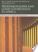 Professionalism and good governance in Africa