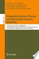 Enterprise  Business Process and Information Systems Modeling Book