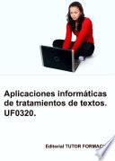 Aplicaciones informáticas de tratamiento de textos. Libre Office 6.x. UF0320.