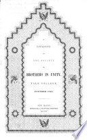 A Catalogue of the Society of Brothers in Unity     founded 1768