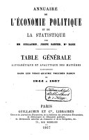 Annuaire de l'économie politique et de la statistique pour ....