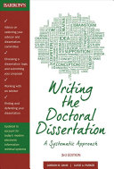 Writing the Doctoral Dissertation