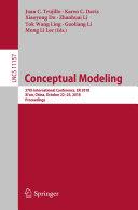 Conceptual Modeling