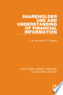 Shareholder Use And Understanding Of Financial Information