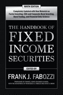 The Handbook of Fixed Income Securities  Ninth Edition Book