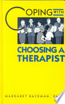 Coping with Choosing a Therapist
