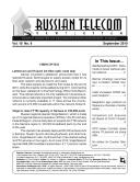 Russia Monthly Newsletter September 2010