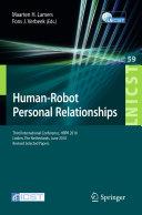 Human-Robot Personal Relationships [Pdf/ePub] eBook
