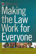 Making The Law Work For Everyone Working Group Reports