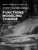Student Solutions Manual to accompany Functions Modeling Change 6e Book