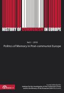 Pdf Politics of Memory in Post-Communist Europe Telecharger