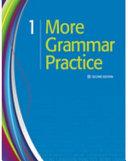More Grammar Practice 1