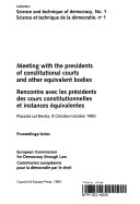 Pdf Meeting with the Presidents of Constitutional Courts and Other Equivalent Bodies Telecharger