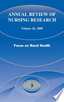 Annual Review Of Nursing Research Volume 26 2008