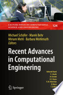 Recent Advances in Computational Engineering