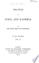 Travels in India and Kashmir