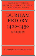 Durham Priory 1400-1450