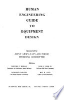 Human Engineering Guide to Equipment Design