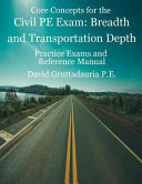 Civil PE Exam Breadth and Transportation Depth Book