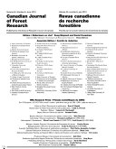 Canadian Journal of Forest Research Book