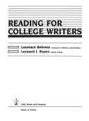 Reading for College Writers