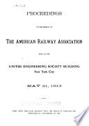 Proceedings of the American Railway Association ...