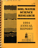 Soil/water Science Research in the Plant Science Department ... Annual Report