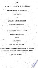 The Myvyrian Archaiology of Wales