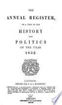 The Annual Register Or A View Of The History And Politics Of The Year