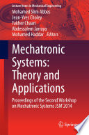 Mechatronic Systems Theory And Applications Book PDF