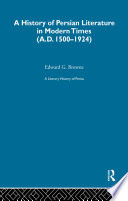 A Literary History of Persia Book