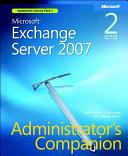 Microsoft Exchange Server 2007 Administrator S Companion Book PDF