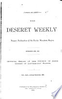The Deseret Weekly