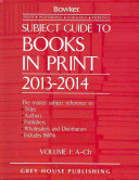 Subject Guide to Books in Print 6 Volume Set