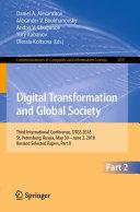 Pdf Digital Transformation and Global Society